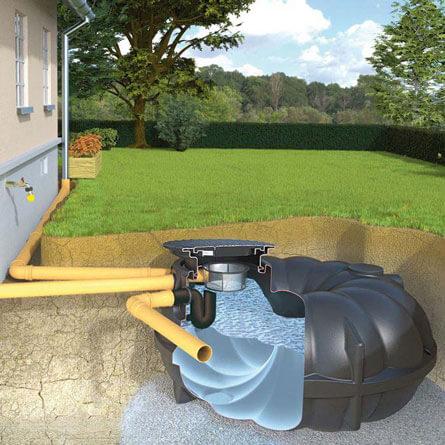 Regentonne – moderner Regenwassertank